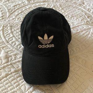 Faded black Adidas Dad Hat